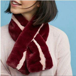 NWOT Anthropologie faux fur scarf